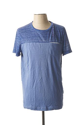 T-shirt manches courtes bleu TIBET pour homme