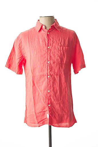 Chemise manches courtes rose TIBET pour homme
