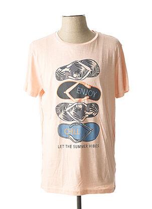 T-shirt manches courtes rose TIBET pour homme