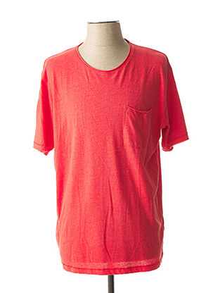 T-shirt manches courtes rouge PIONEER pour homme