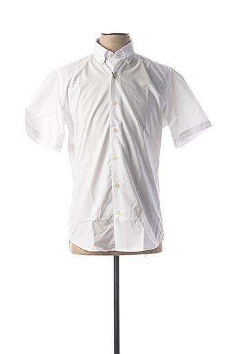 Chemise manches courtes blanc DARIO BELTRAN pour homme