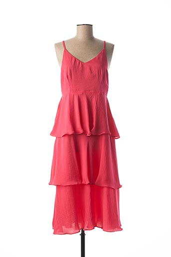 Robe mi-longue rose ANONYM APPAREL pour femme