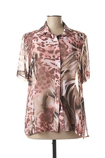 Chemisier manches courtes rose PALOMA pour femme