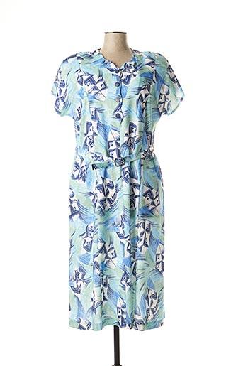 Robe mi-longue bleu REGINE pour femme