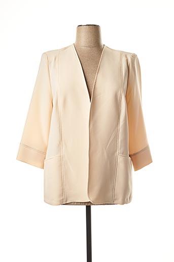 Veste chic / Blazer beige FRANCE RIVOIRE pour femme