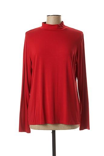 T-shirt manches longues rouge TELMAIL pour femme