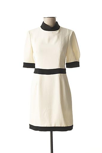 Robe courte beige EL GANSO pour femme
