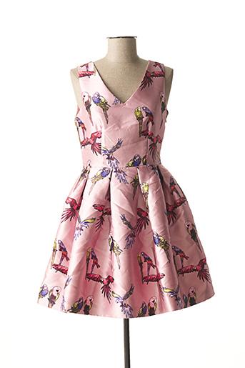 Robe courte rose CHOKLATE pour femme