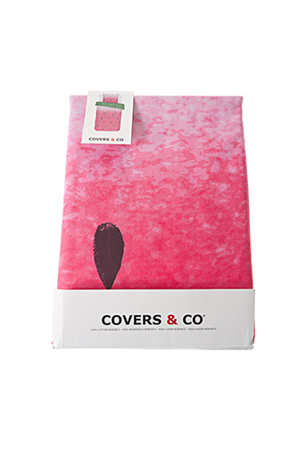 Parure de lit rose COVERS & CO pour unisexe