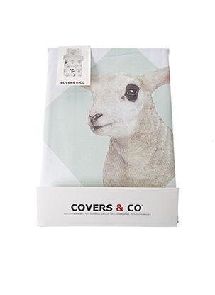 Parure de lit bleu COVERS & CO pour unisexe
