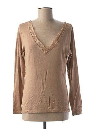 T-shirt manches longues beige JEAN-LOUIS SCHERRER pour femme