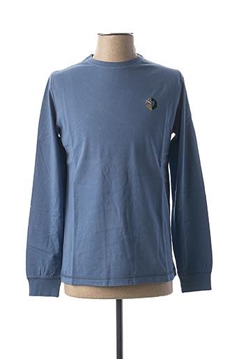 T-shirt manches longues bleu GREEN LION pour homme