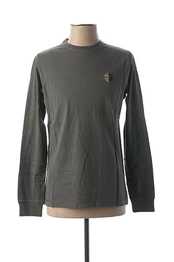 T-shirt manches longues vert GREEN LION pour homme