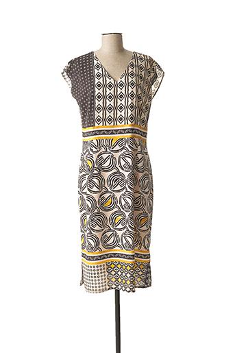 Robe mi-longue beige MERI & ESCA pour femme