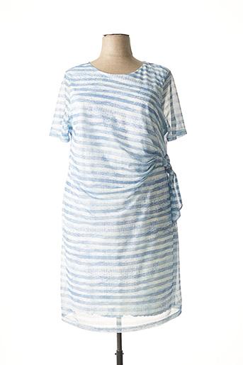 Robe mi-longue bleu LEBEK pour femme