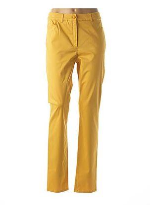 Pantalon casual jaune CHRISTIAN MARRY pour femme