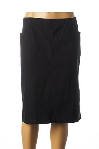 Jupe mi-longue noir ADELINA BY SCHEITER pour femme