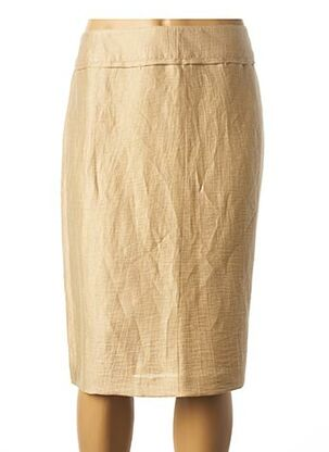 Jupe mi-longue beige FRANK WALDER pour femme