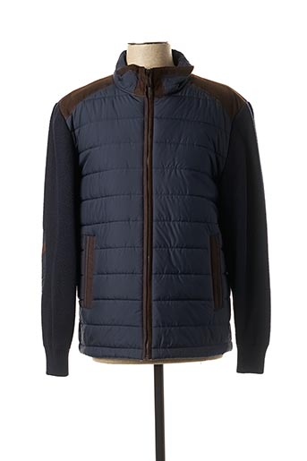 Manteau court bleu REVER MILE pour homme