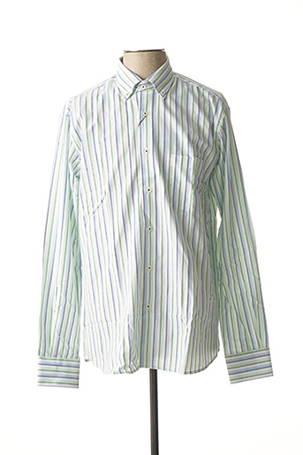 Chemise manches longues vert BASSETTE pour homme