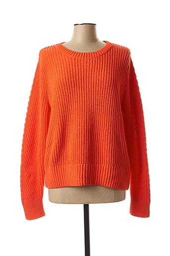 Pull col rond orange STREET ONE pour femme