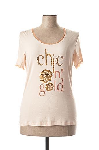T-shirt manches courtes rose CAROLINE BISS pour femme