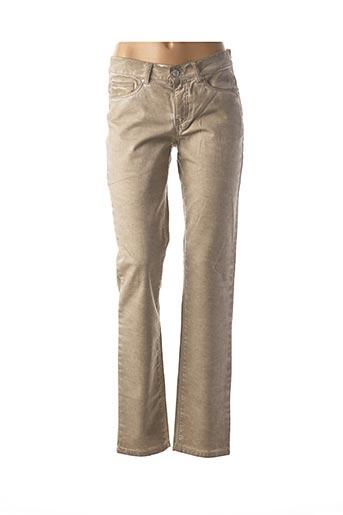 Jeans coupe droite beige CMK pour femme