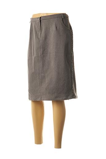 Jupe mi-longue gris MERI & ESCA pour femme