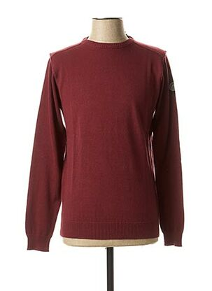 Pull col rond rouge HOPENLIFE pour homme