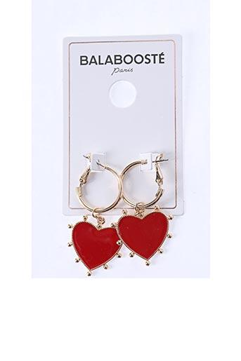 Boucles d'oreilles rouge BALABOOSTÉ pour femme