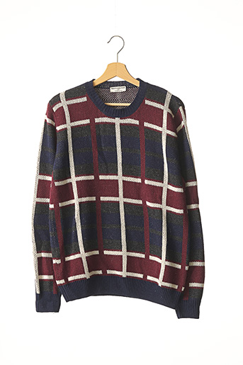 Pull col rond bleu EDITIONS M.R pour homme