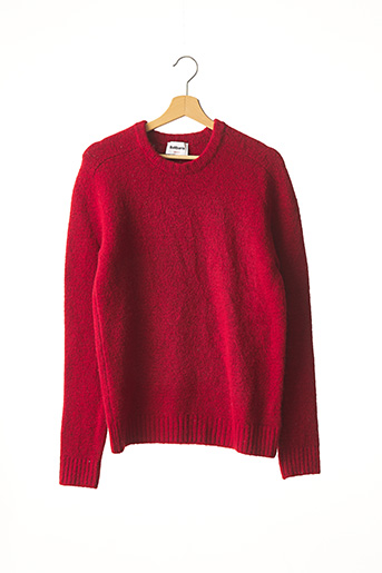Pull col rond rouge BALIBARIS pour homme