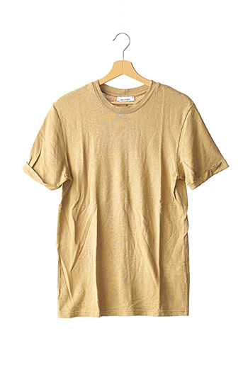 T-shirt manches courtes beige SAMSOE & SAMSOE pour homme