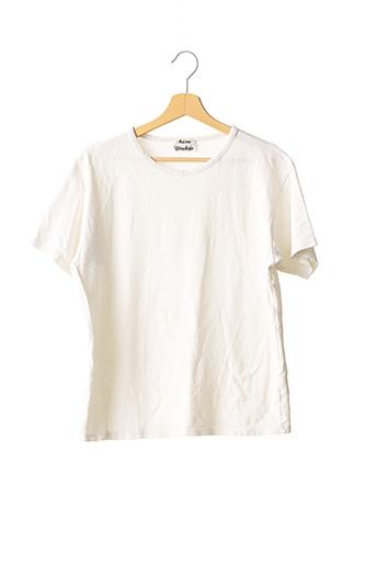 T-shirt manches courtes blanc ACNE STUDIOS pour homme