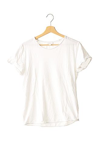 T-shirt manches courtes blanc COS pour homme
