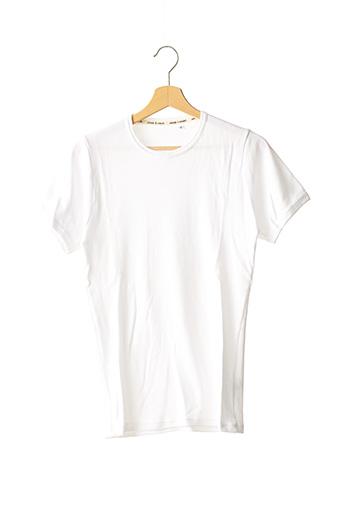 T-shirt manches courtes blanc SAMSOE & SAMSOE pour homme