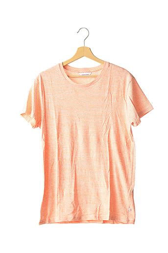 T-shirt manches courtes orange SAMSOE & SAMSOE pour homme