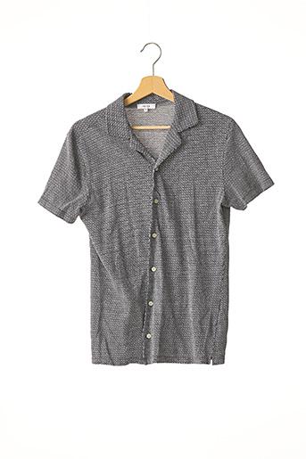 Chemise manches courtes bleu REISS pour homme