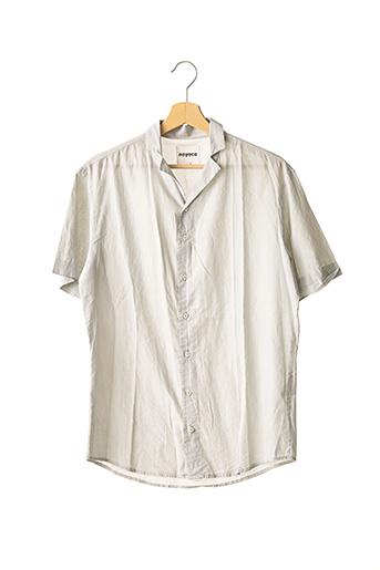 Chemise manches courtes gris NOYOCO pour homme