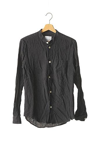 Chemise manches longues noir SAMSOE & SAMSOE pour homme