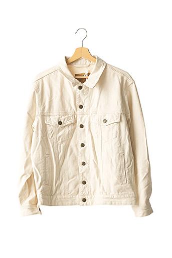 Veste en jean beige AMERICAN VINTAGE pour homme