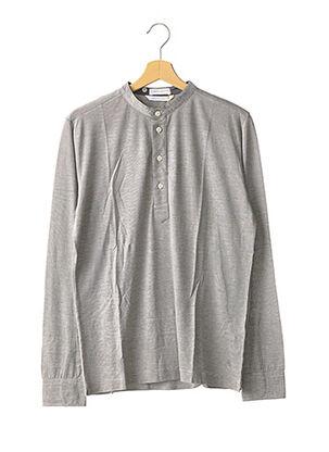 T-shirt manches longues gris COAST SOCIETY pour homme