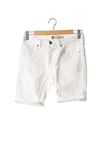 Short blanc DENIM CO pour homme