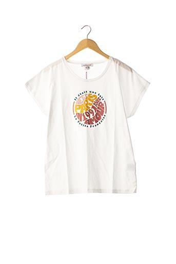 T-shirt manches courtes blanc LA PETITE FRANCAISE pour femme