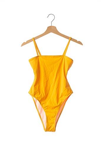 Maillot de bain 1 pièce jaune NASTY GAL pour femme