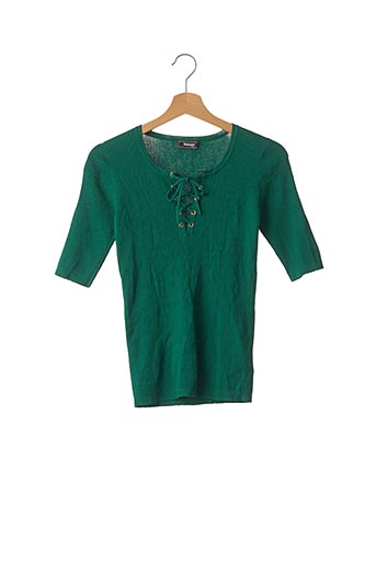 Pull col rond vert SINEQUANONE pour femme