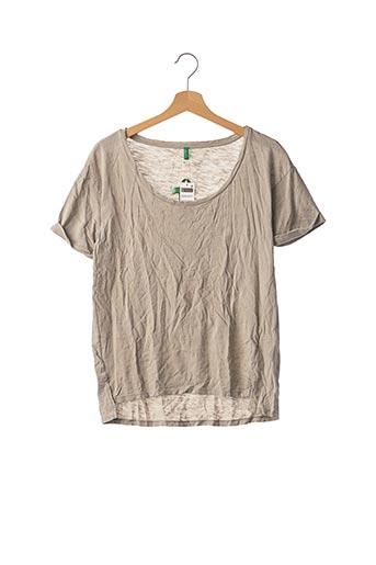T-shirt manches courtes gris BENETTON pour femme