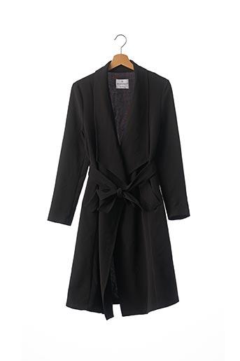 Manteau long noir RINASCIMENTO pour femme