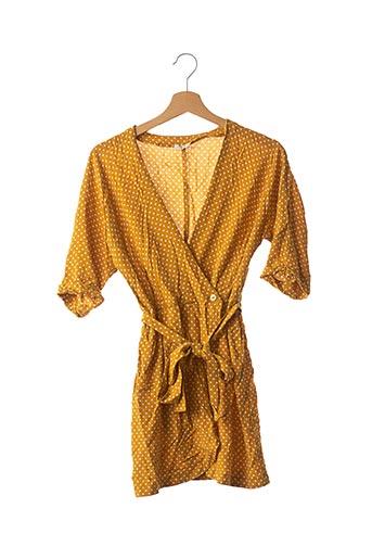 Robe courte jaune YSE pour femme