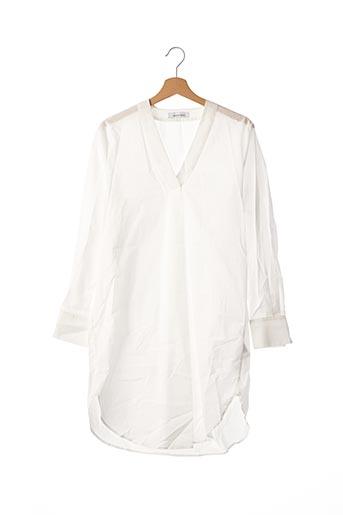 Tunique manches longues blanc SAMSOE & SAMSOE pour femme